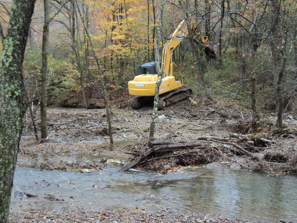 Creek Restoration Project near Scranton PA