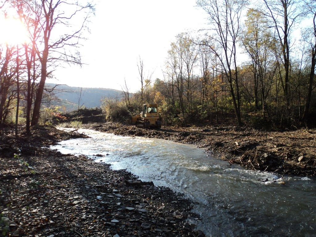 Creek Restoration Project in Lackawanna County