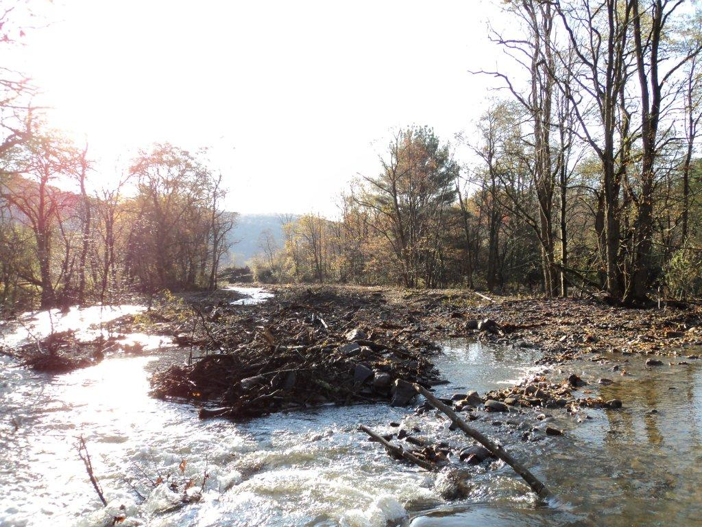 Creek Restoration Project near Tunkhannock